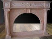 17.Мраморный камин  Rosa Portugalo