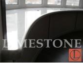 Эркерный подоконник из мрамора Bianco Carrara