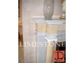 11.Мраморный камин, с резьбой и колоннами