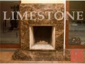 5. Камин из коричневого мрамора